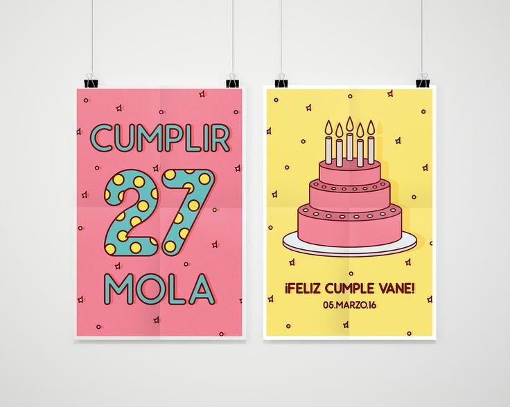 Cumplir 27 mola - Happy bday on Behance
