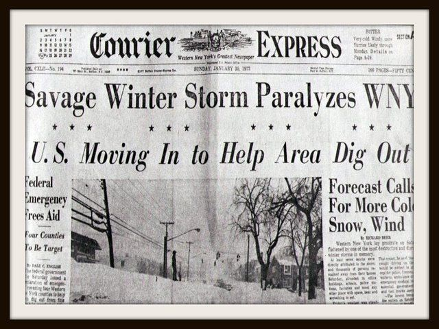 Blizzard of 1977...this was my last winter in Buffalo. Moved to Houston via Corning New York