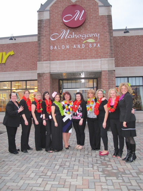 As do our wonderful volunteer stylists! This is from our 2011 event. In 2013 we have moved to a larger location Algonquin College Hair Salon Dept 1645 Woodroffe Rd, Ottawa