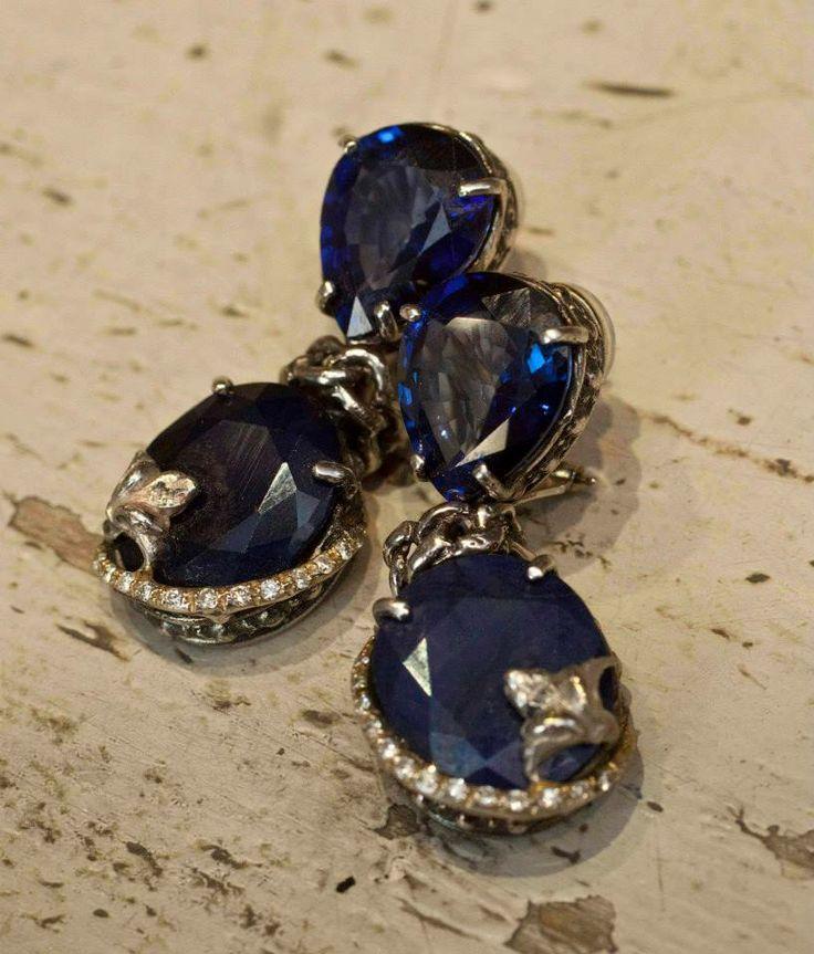 One of our most exclusive works of art #midnightblueearrings #earrings #giuseppinafermi #gioielli #orecchini #accesories #elegance #italianbeauty #italiantalent #madeinitaly #proud #silver #bijoux #jewlery