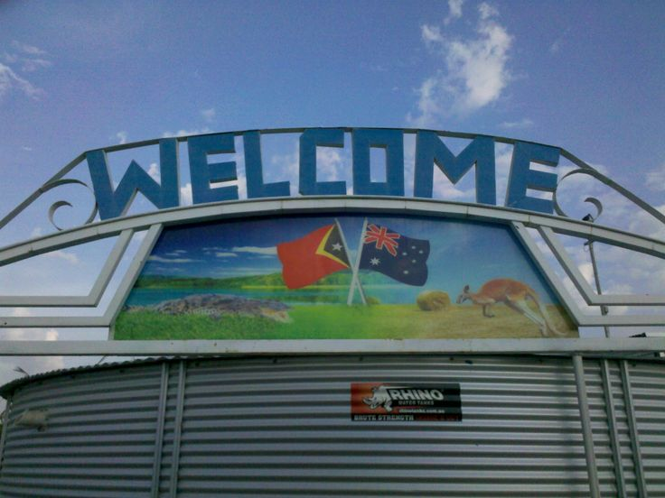 Welcome to East Timor.