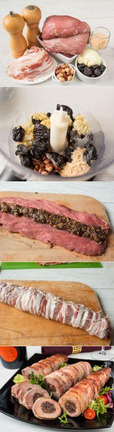 Свиная вырезка с начинкой из чернослива