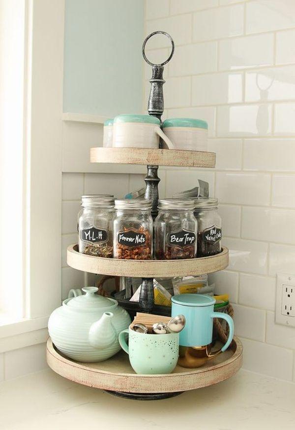 25 Genius Kitchen Countertop Organizer For Small Areas Home Design And Interior Kitchen Decor Kitchen Tea Vintage Kitchen