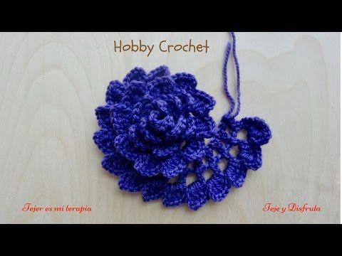 Rosas enrolladas 3D tejidas a crochet / English subtitles: 3D crochet rolled roses - YouTube