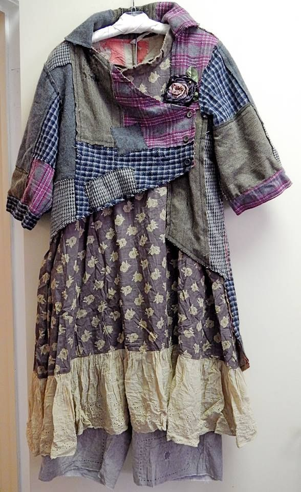 Inspiring image only. I like the patchwork top portion but not the skirt and pantaloons so much.