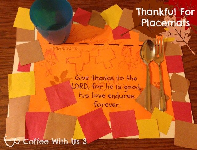 Best 25 thanksgiving placemats ideas on pinterest for Christian thanksgiving crafts for kids