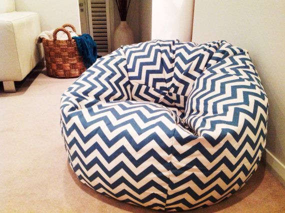 Chevron Bean Bag volwassenen bean bag Zitzak door MyBeachsideStyle