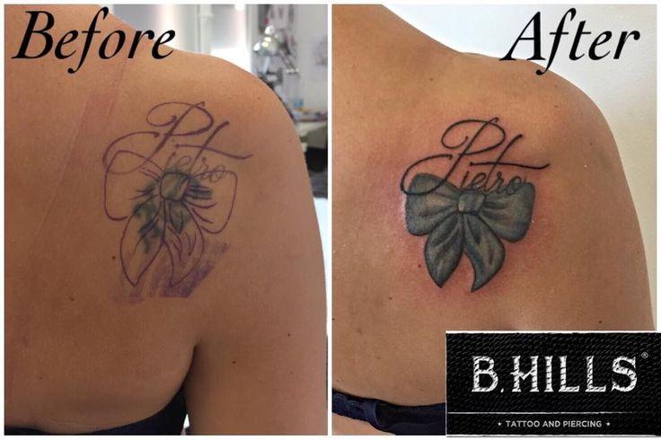 #Lettering #tattoo #coverup #dolphine #before #after #blow #blue #tattoocolor #ink #letteringtattoo #Larabhills #laraladyoktopus #tattooartist #Bhillstattoo #cittadella #tattoocittadella