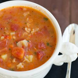 Manhattan Clam Chowder Recipe | Brown Eyed Baker