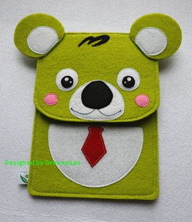 GP Animal Family Cute Koala Bear Felt iPad by GreenpeasHandmade, $28.00