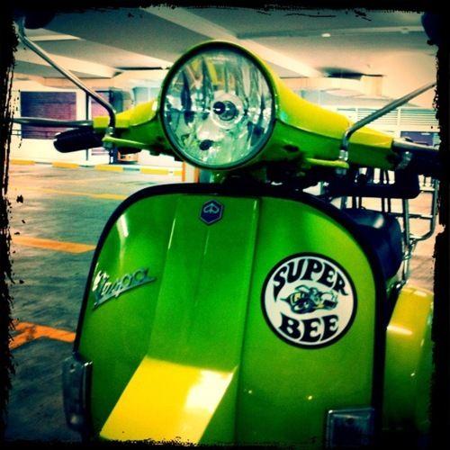 "1982 Vespa PX200, ""Super Bee,"" Singapore."