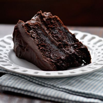 Moist Chocolate Cake...the easiest, richest cake ever...has coffee in it, too :) This looks ahhmazing.