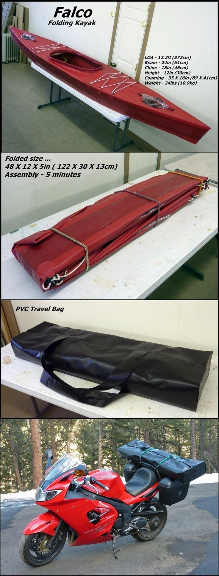 Falco Folding Kayak   .|||. Please follow along with me! #camping #zombies #survival