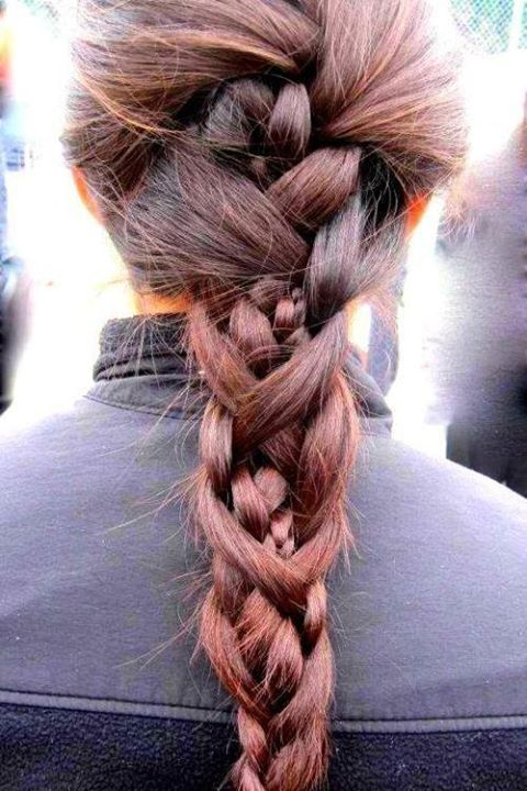 Mai kedvenc #fonott #copf / Today's favourite #braided #ponytail