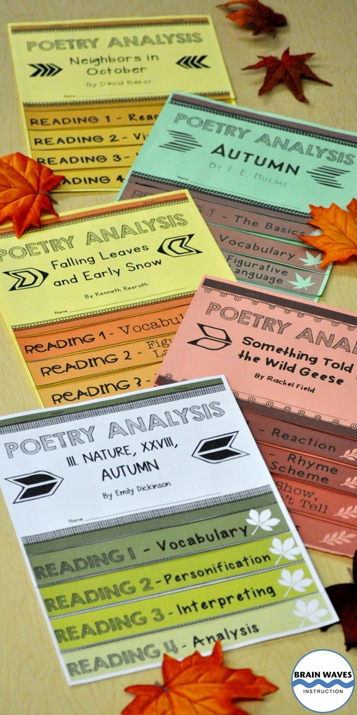 Celebrate the autumn season with five autumn poems in this hands-on and engaging 5-day poetry analysis unit. Each autumn poem is accompanied by a 5-page interactive flip book that helps students deeply understand the poem. As students progress through the analysis tasks on each page of their flip books they not only dive deeper into the text, but they also develop an appreciation for closely reading poetry. Your students will love the interactive flip books! Make poetry fun!