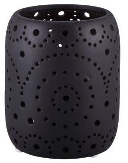 Stor og vakker lyslykt i matt keramikk fra Broste Copenhagen.Ø 11 X H 13,5 cm.