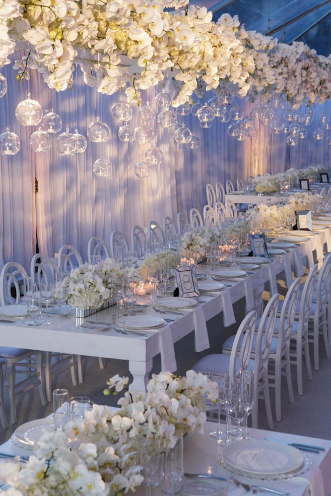 Best 25 hanging centerpiece ideas on pinterest for White wedding table decorations