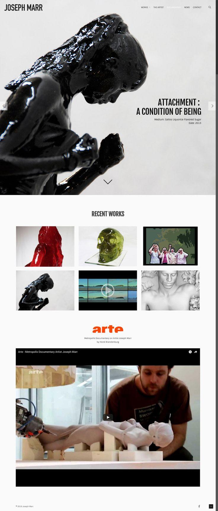 New responsive website design by KORE (http://kore.digital/) for Joseph Marr fine artist, Berlin. Home page. #responsivedesign #webdesign #wordpress