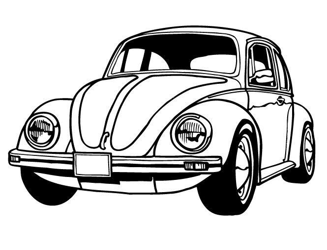 voiture coccinelle en dessin