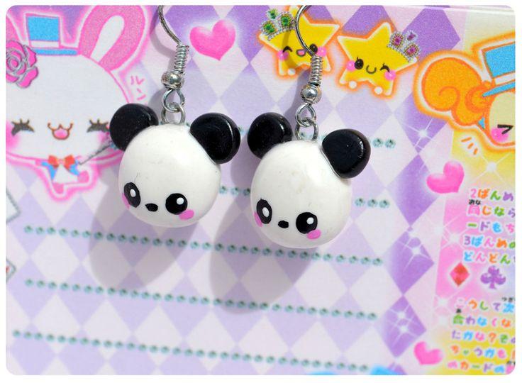 BO Panda Kawai en Fimo