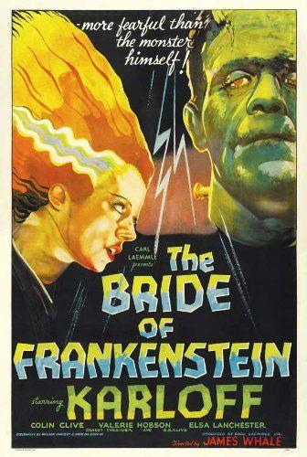 The Bride of Frankenstein Movie Poster (27 x 40 Inches - 69cm x 102cm) (1935) Style C -(Boris Karlof @ niftywarehouse.com #NiftyWarehouse #Geek #Horror #Creepy #Scary #Movies