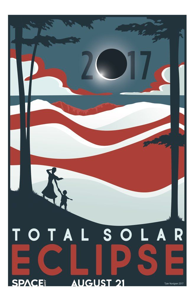 Print, Share and Enjoy These 3 Free Solar Eclipse 2017 Posters - Enjoy this free total solar eclipse poster from Space.com, illustrated by astronomer and artist Tyler Nordgren.