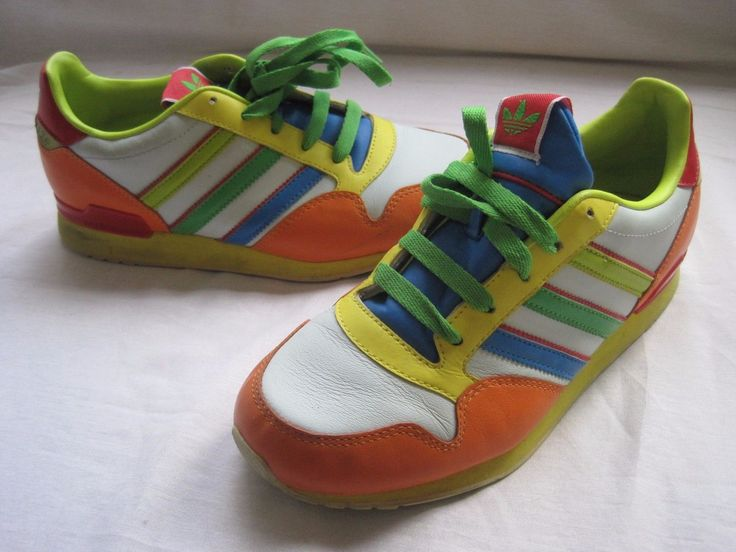 2007 ADIDAS ZXZ + Vintage Retro Size 4.5 multi color Leather Sneakers Shoes