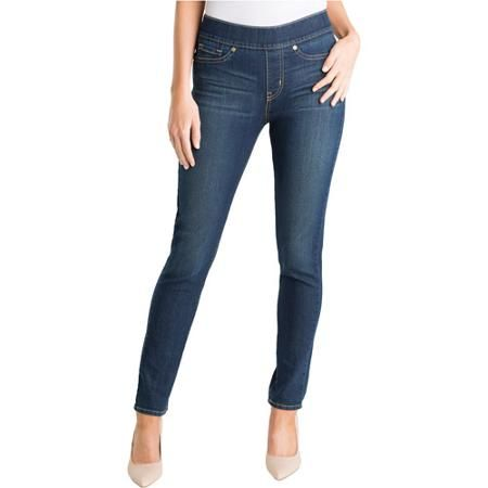 Signature by Levi Strauss & Co. Women's Totally Shaping Pull On Skinny Jeans - Walmart.com
