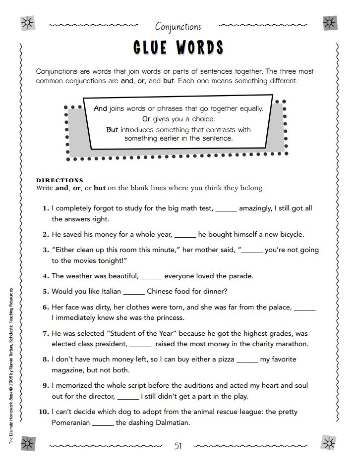 Teaching your child conjunctions can actually be fun -- we promise. All you'll need is this fill-in-the-blank printable.