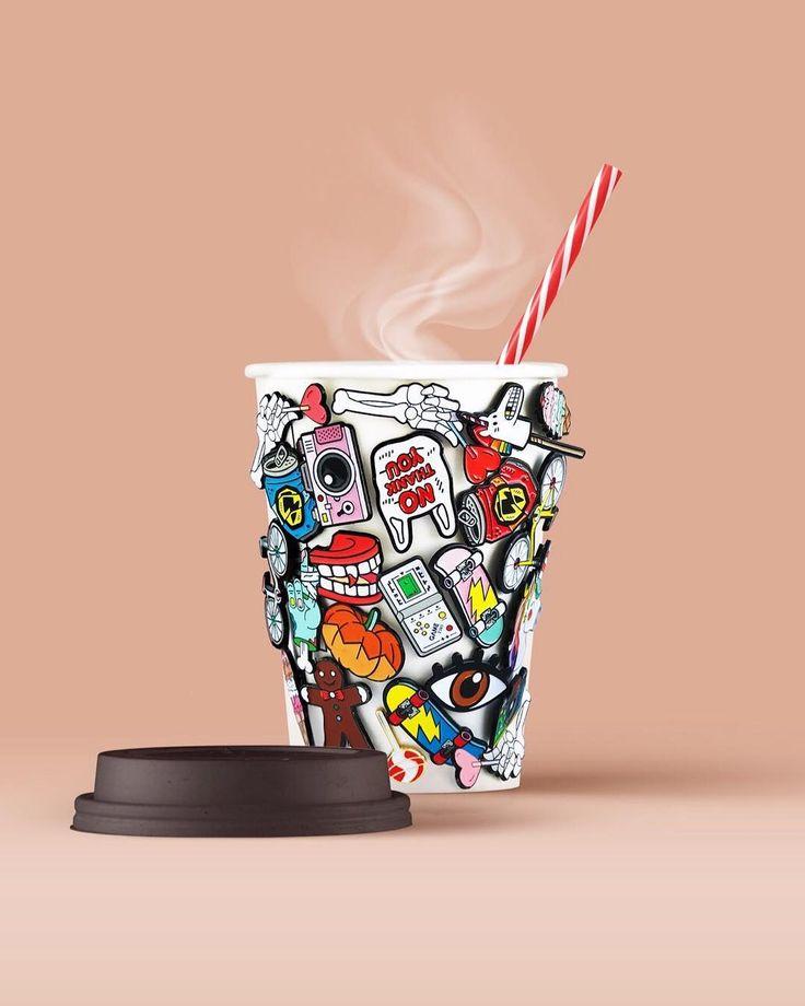 Мой утренний кофе тоже любит быть на стиле 😏☕️🤘🏻💥 Больше значков на serious-about.com ✨ доставляем по всему миру 🙌🏻 Photo by @serious_about