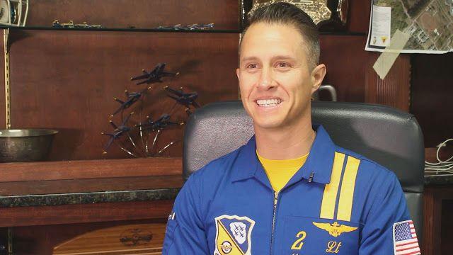 U.S. Navy Blue Angels Schedule - Blue Angels Practices and Autographs: Blue Angel pilot No. 2 touts SLU degree
