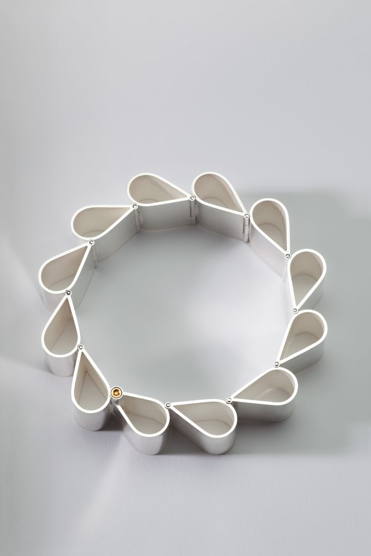 """Sterling silver hinged bracelet, titled """"Ribbon 2"""" by Sorcha O'Horain www.facebook.com/sohjewellery"""
