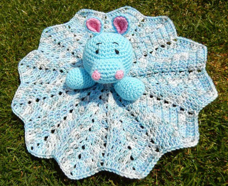 Free Crochet Lamb Cuddle Blanket Pattern : Gratis patroon knuffeldoekje nijlpaard Haken - Baby ...