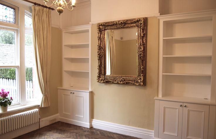 Made to measure, Alcove Cabinets by furniture maker 'Gill Martinez' #Manchester www.gillmartinez.com #alcoveunits #alcovecabinets #bespokecabinets #cabinetfurniture #custommade #builtinfurniture #cabinetry #alcovefurniture #customcarpentry