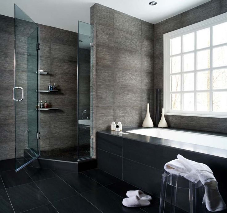 modern bathroom with triangle bathtub gray - Google Search