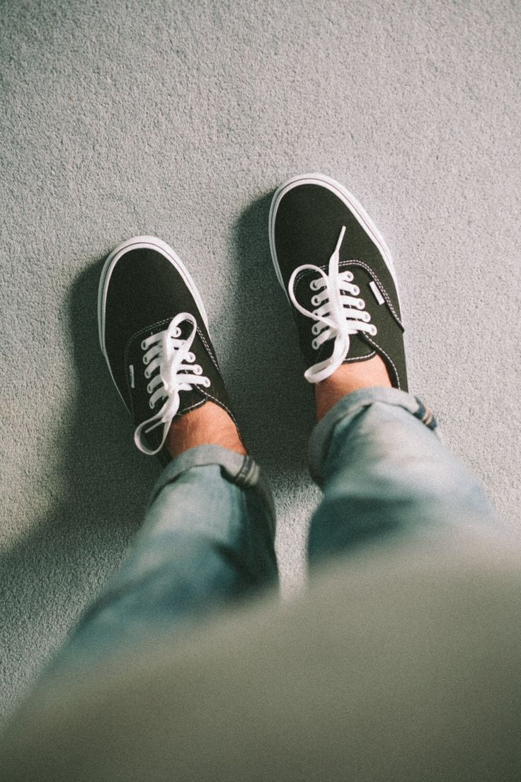 Vans Black Bone On Feet