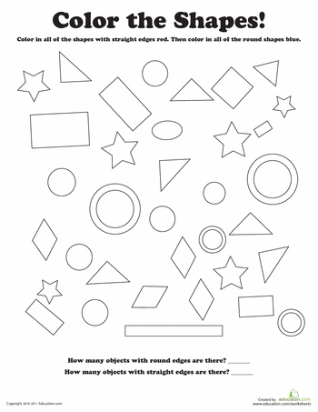 shapes coloring pages for preschool - photo#11