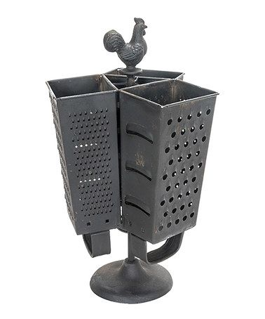 Love this Rooster Cheese Grater Three-Section Utensil Holder on #zulily! #zulilyfinds