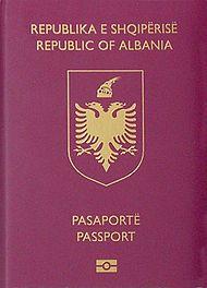 Albanian biometric passport (crop).jpg