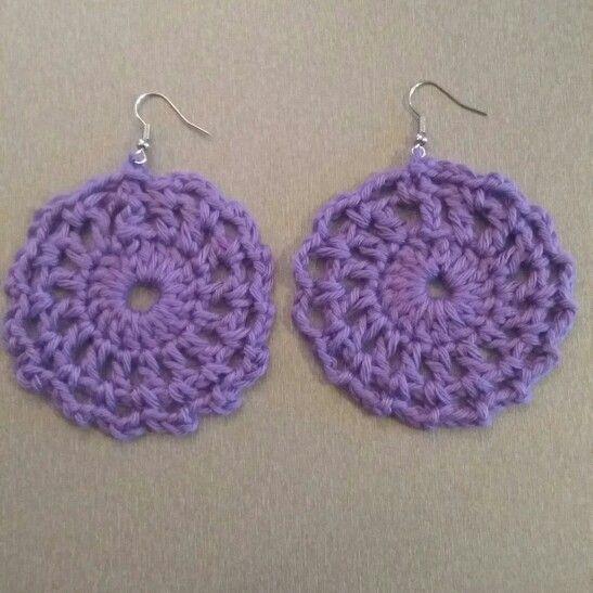 Πλεκτά σκουλαρίκια με βελονάκι  Crochet earrings