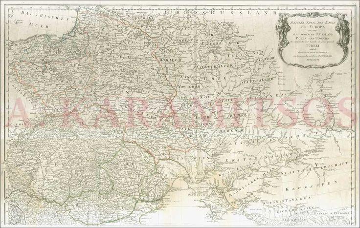 """""""Dritter Theil Der Karte Von Europa Welcher Das Sudliche Russland Polen Und Ungarn die europaeische ..."""