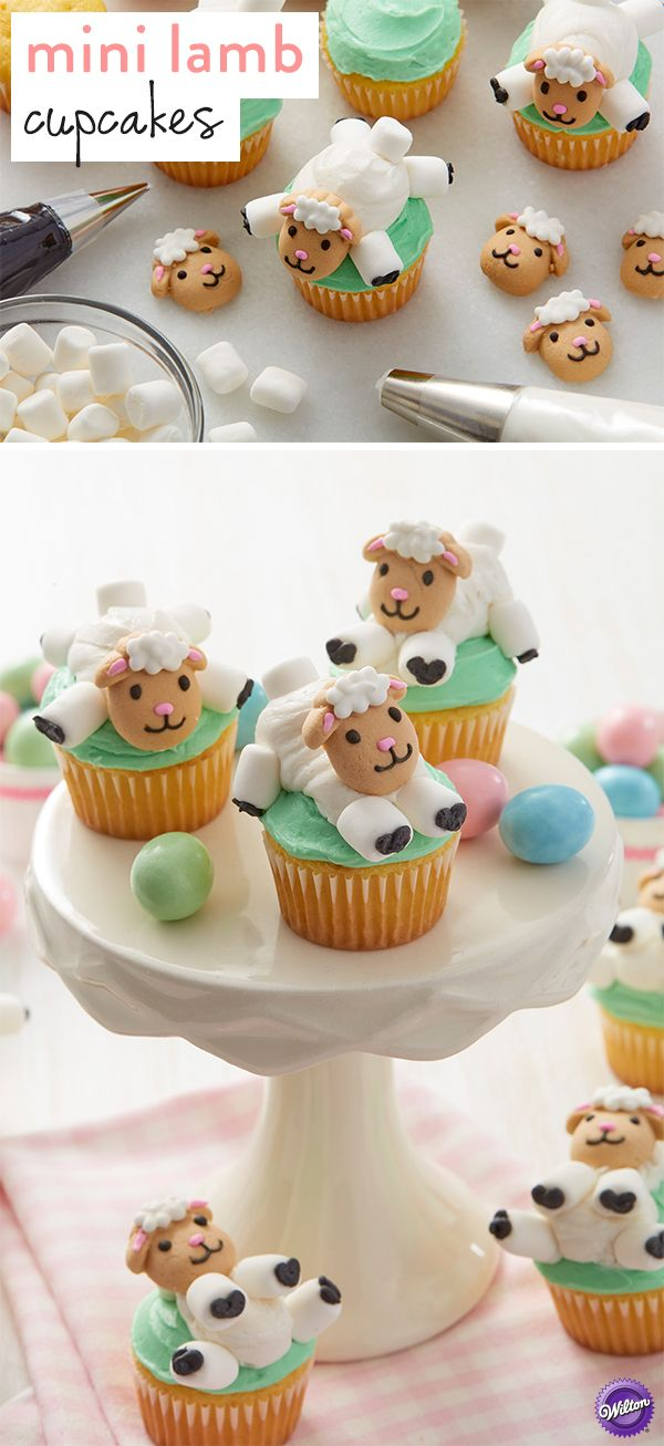 Mary may have had a little lamb, but you can have dozens for your Easter party! Your guests will love these easy and adorable Little Lamb Mini Cupcakes. The Easy Lamb Cupcake Decorating Kit comes with lamb-shaped edible icing decorations and mini marshmallows.