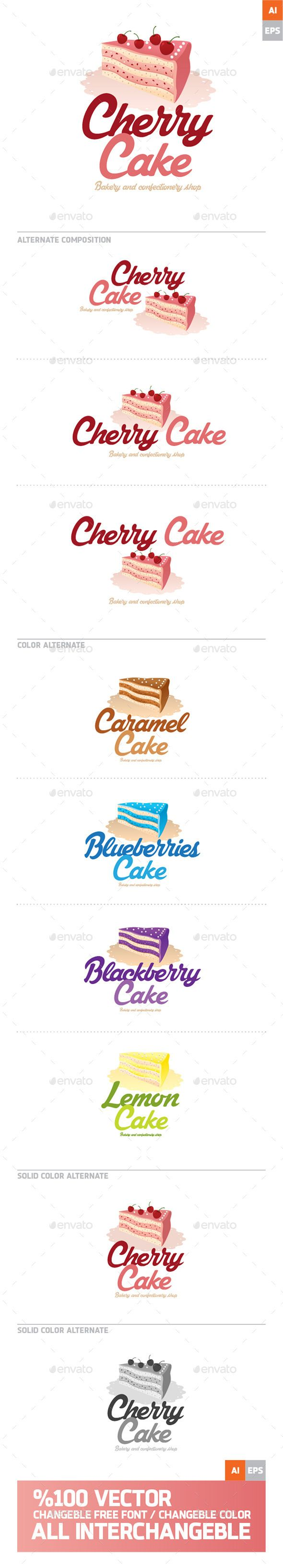 Cherry Cake Logo - Download…