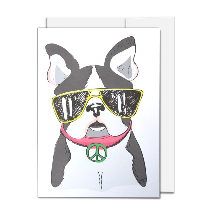 All Occasion Card, Dog Wearing Sunglasses, illustrated all ages card by AMTaylorArt on Etsy https://www.etsy.com/ca/listing/386106356/all-occasion-card-dog-wearing-sunglasses