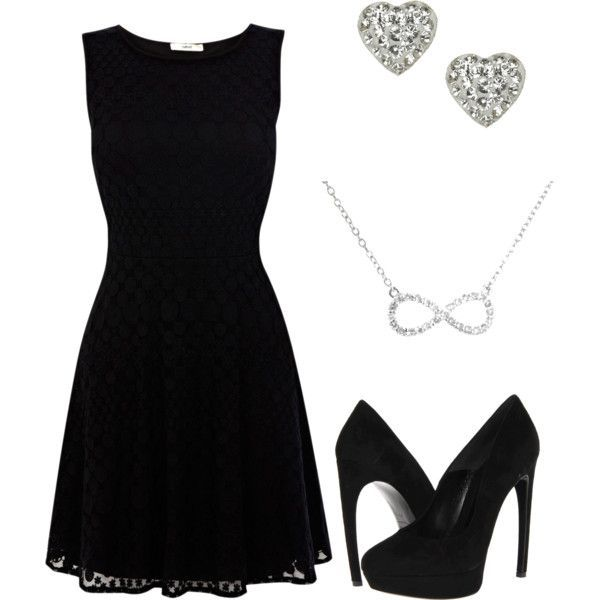 Little black dress with accessories. From: Funeral Outfits: What to Wear at a Funeral.