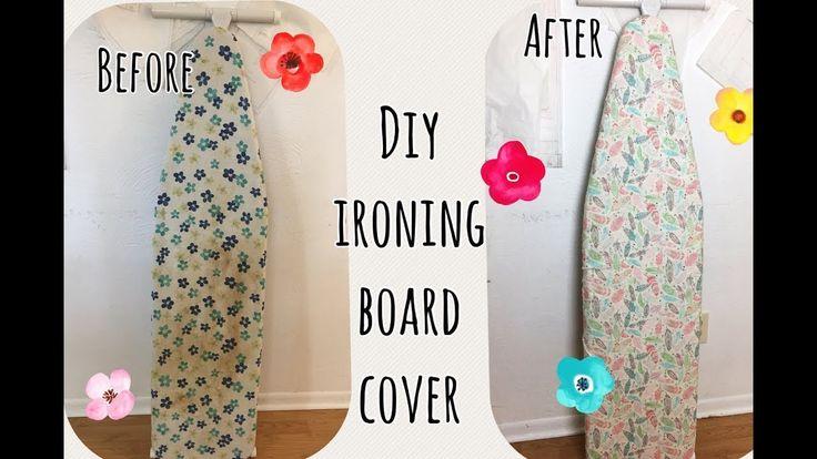 Diy sewing ironing board cover easy # เย็บผ้ารองรีด ง่ายๆ