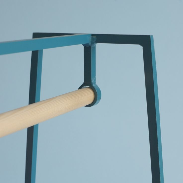 &New - 'A' clothes rail in turquoise