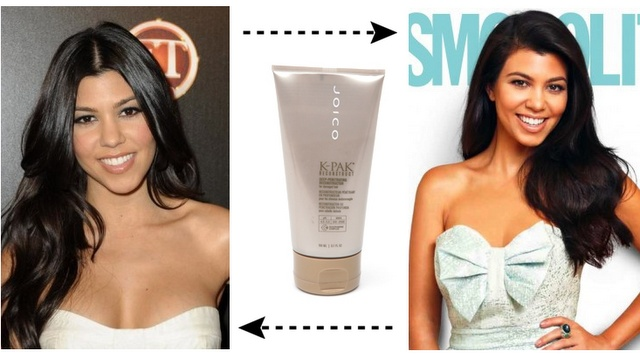 Kourtney Kardashian hair products