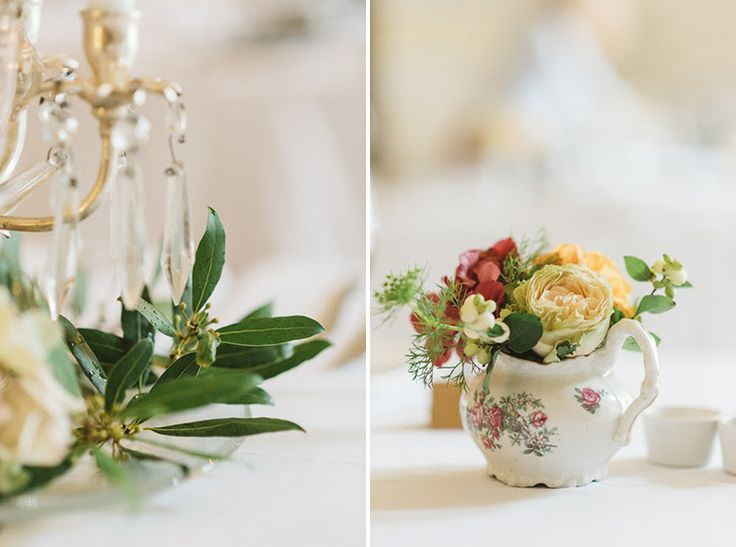 Simple table arrangements for Laura and Ken. September 2015