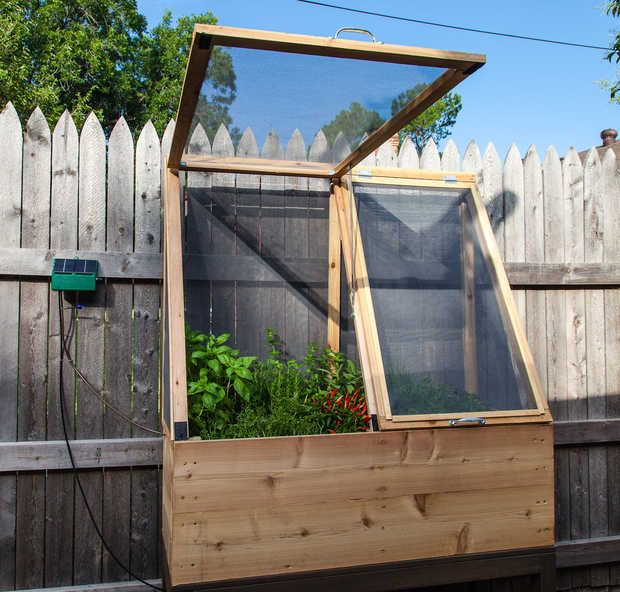 Elevated, Enclosed Herb Garden. Perfect To Keep The